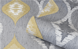 Belgravia Wallpaper | San Marino Wave Yellow/Grey | GB3716