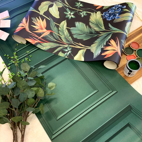 Oliana Panel Green | Belgravia Wood Panel | 8491