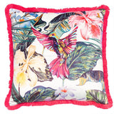 Hope Tropical Pink Cushion | Feather Filled | Malini Designs