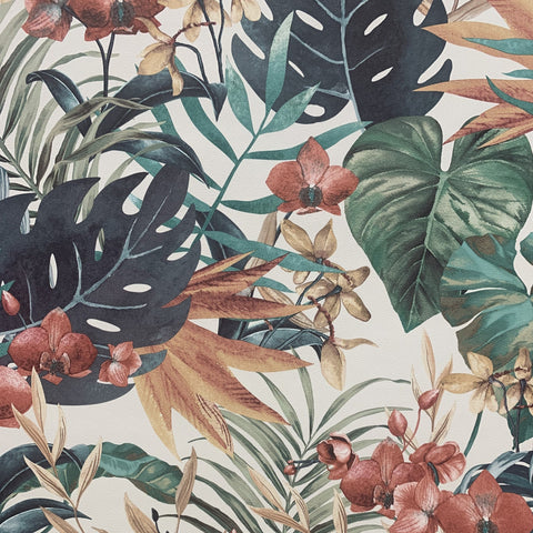 Tropical Floral Multi Wallpaper | Rasch 833126 | Tropical Designs