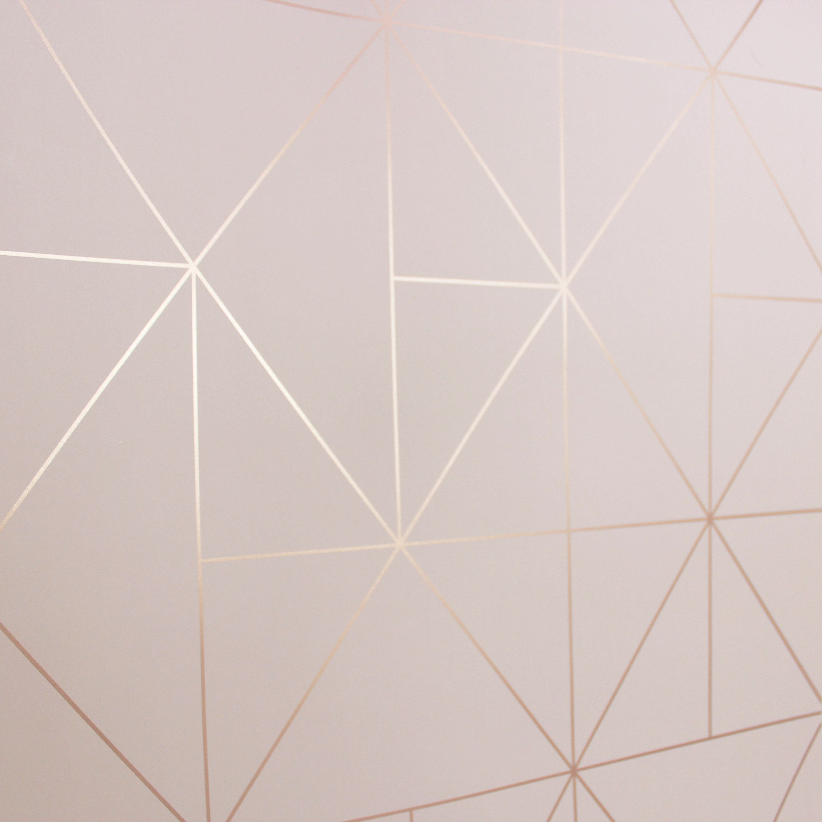 Wonderwall Exclusive Wallpaper Apex Prism Blush Rose Gold 41102