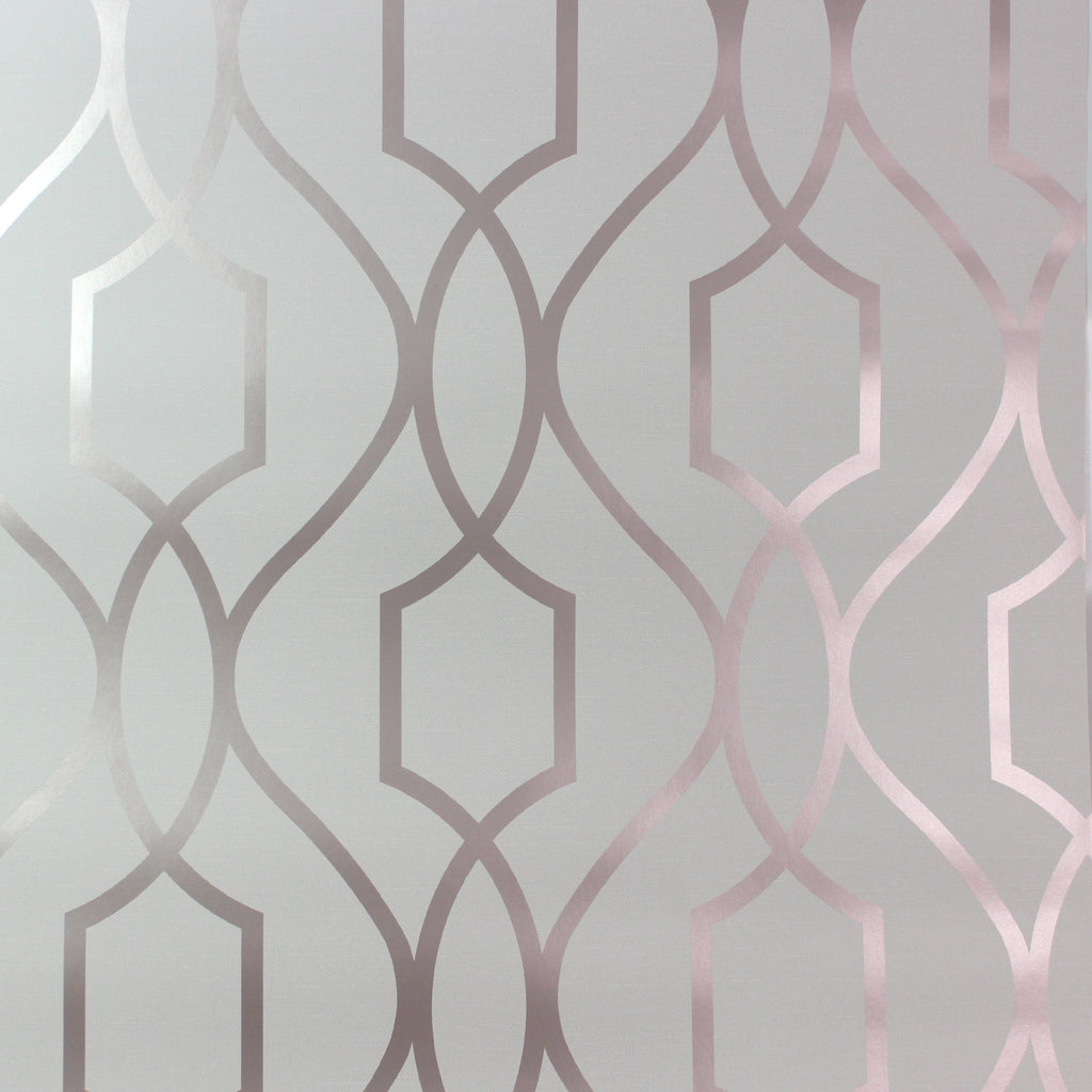 Fine Decor Wallpaper | Apex Trellis Rose Gold | FD42262