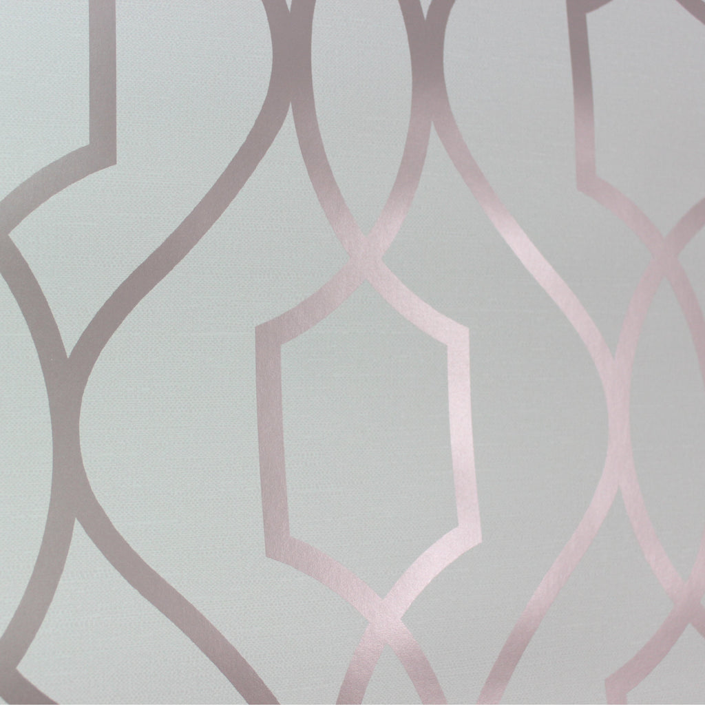 Apex Trellis Sidewall Wallpaper Copper: Apex Trellis Rose Gold