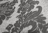 Belgravia Decor Wallpaper | San Remo Damask Black/Grey | GB6523