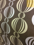 Exclusive Wallpapers | Geometric Retro Choc/Gold | FD54114