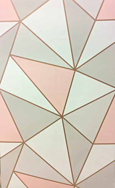 Fine Decor Wallpaper Apex Geometric Rose Gold Fd41993