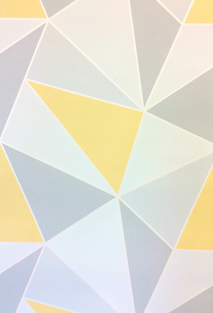 Fine Decor Wallpaper Apex Geometric Yellow Fd41991