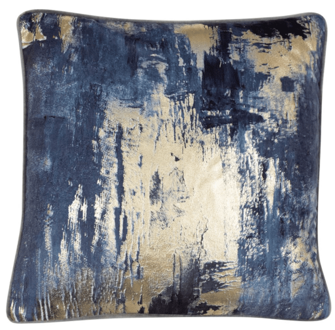 Idyllica Navy Cushion | Malini Designer Cushions | WonderWall