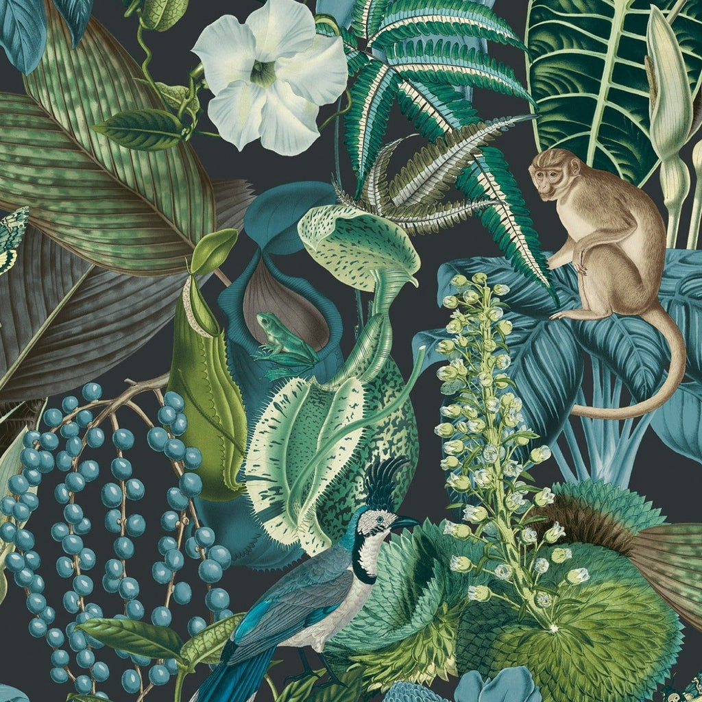 Amazon Blue/Green Wallpaper | GranDeco Life JF2202