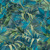Paradise Flower Blue Wallpaper | GranDeco Life JF2302