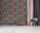 Paradise Flower Pink Wallpaper | GranDeco Life JF2303