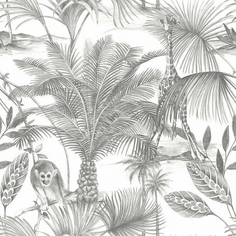 Kidatu Grey Mix Wallpaper | GranDeco Life JF3501