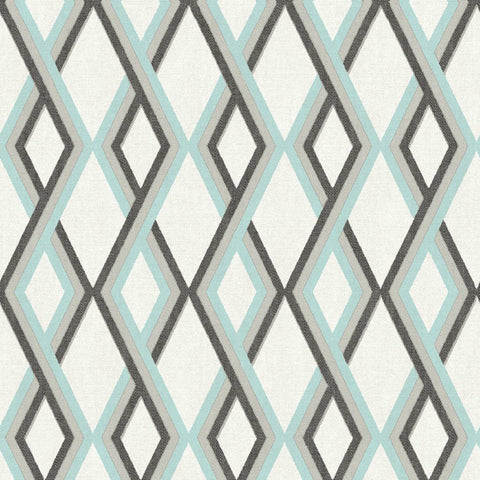 Love Your Walls Wallpaper | Carus Geometric Blue | L35501