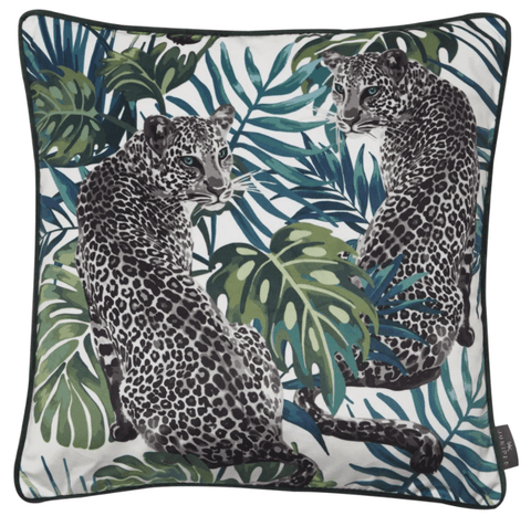 Juniper Leopard Love Cushion | Malini Designer Cushions