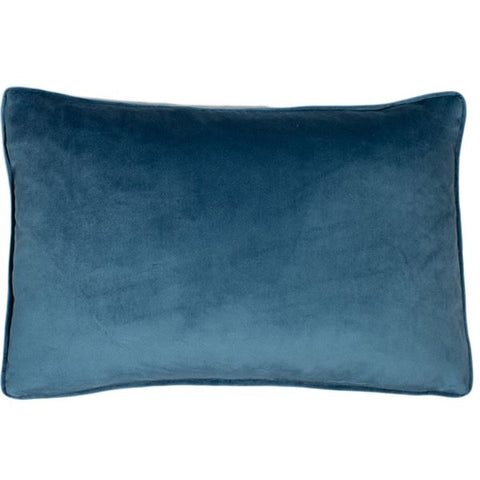 Luxe Blue Wing Cushion | Feather Filled | Malini Designs