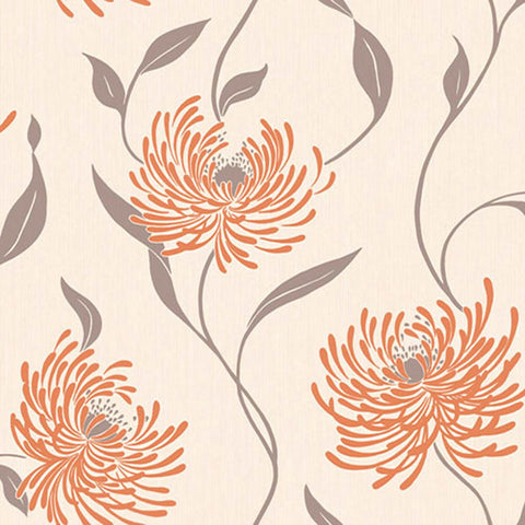 Sale Crown Wallpaper | Lola Tangerine  | M0624