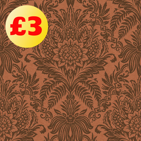 March Wallpaper Clearance | Signature Damask Copper | M1113