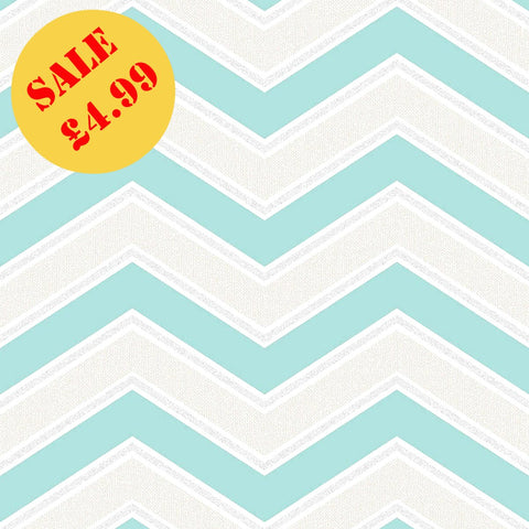 SALE CWV Wallpaper | Chevron Teal | M1145