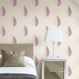 SALE CWV Crown Wallpaper | Scandi Leaf Plum/Silver | M1257