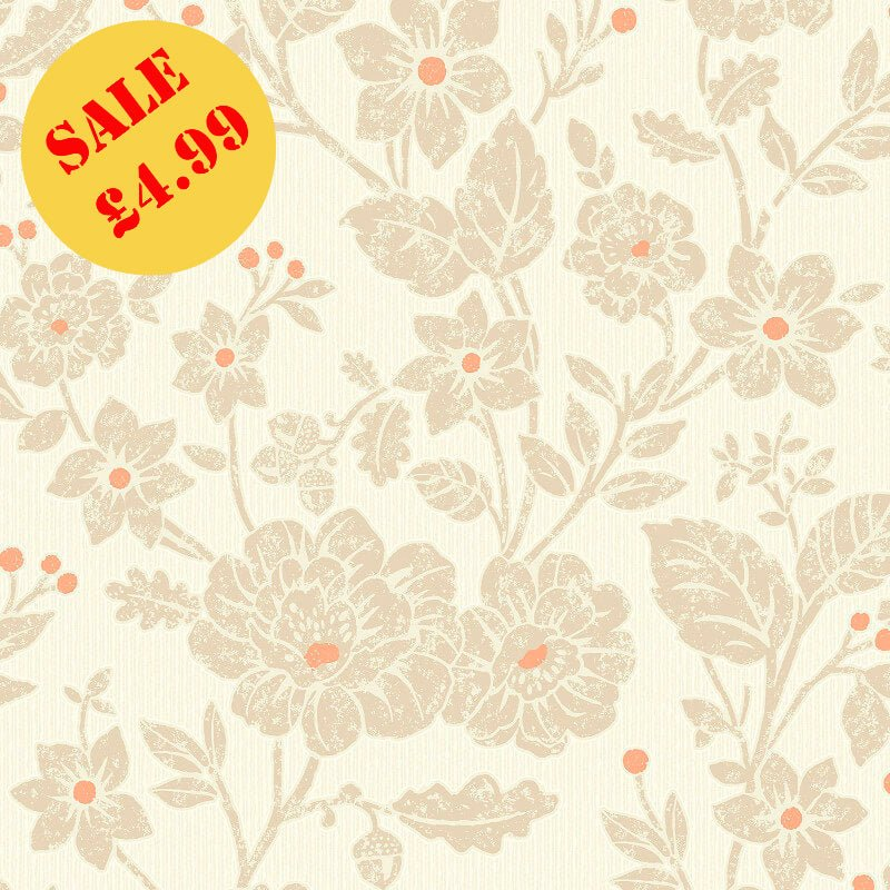 SALE Crown CWV Wallpaper | Alexandra Burnt Orange | M1351