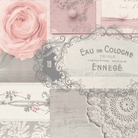 Crown Wallpaper | Ophelia Decoupage Blush Pink | M1426