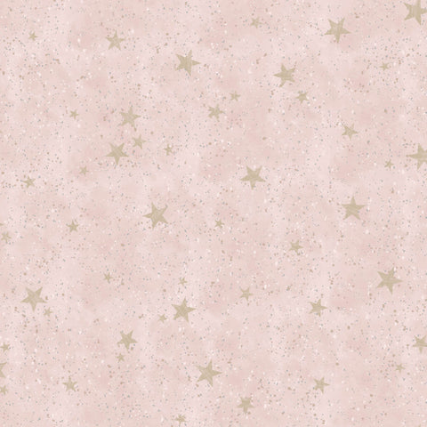 CWV Crown Wallpaper | Starlight Stars Blush Pink | M1492