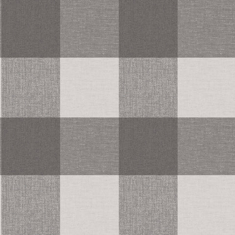 CWV Wallpaper | Glamorous Check Charcoal | M1502
