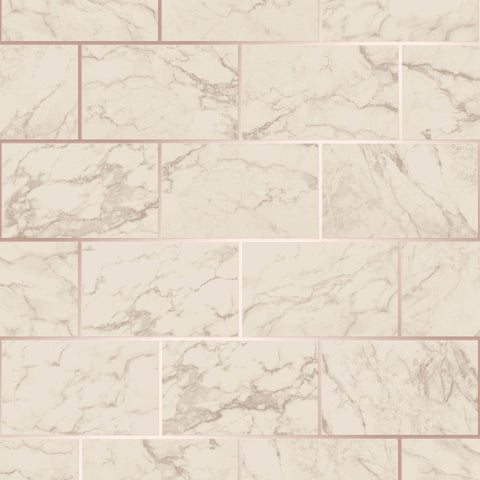 CWV Wallpaper | Brick Marble Rose Gold | M1510