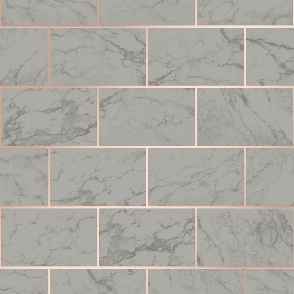 CWV Wallpaper | Brick Marble Charcoal | M1511