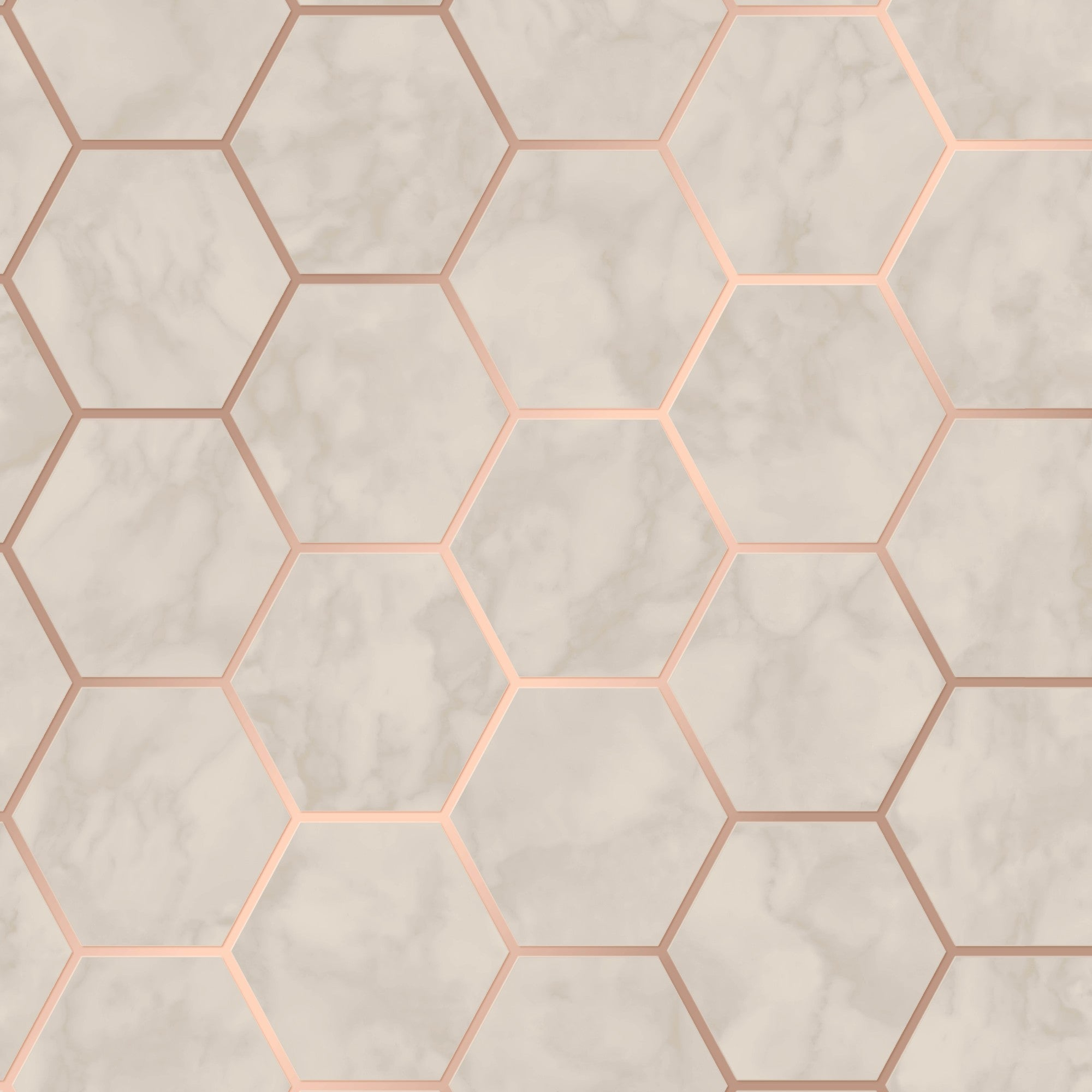 Hex Marble Rose Gold