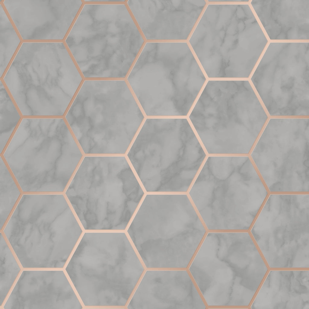 CWV Wallpaper | Hex Marble Charcoal | M1513