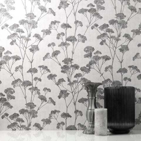 Tulsa Sprig Grey Wallpaper | CWV M1537