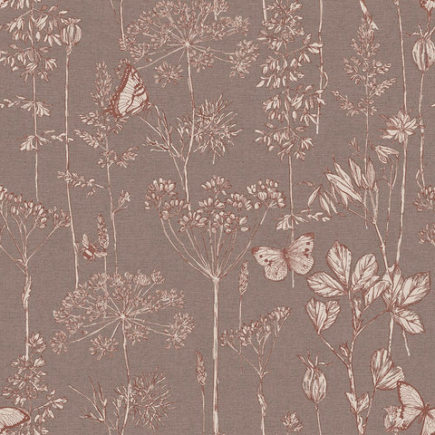 Arthouse Wallpaper | Meadow Floral Choc | 904106