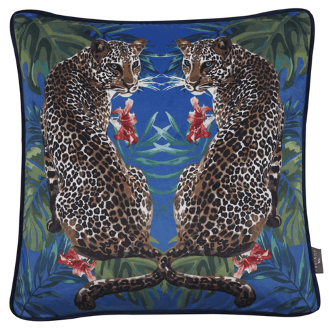 Juniper Malek Leopards Cushion | Malini Designer Cushions