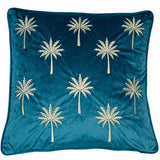 Miami Teal/Gold Cushion | Feather Filled | Malini Designs
