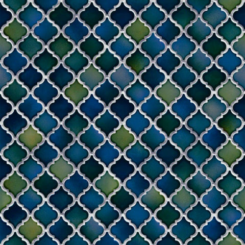 Design id Natural Faux 2 Wallpaper | Trellis Tile Blue | NF232085