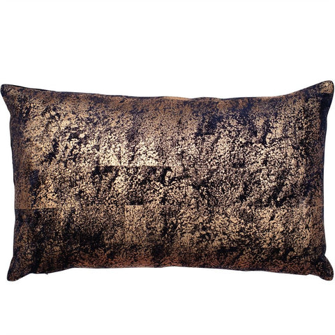 Neptune Copper Foil Cushion | Feather Filled | Malini Designs