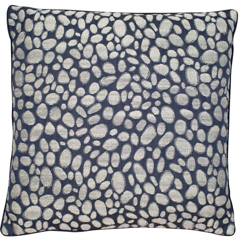 Pebbles Navy Cushion | Malini Designer Cushion Collection
