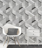Fine Decor Wallpaper | Marblesque Geo Silver | FD42302