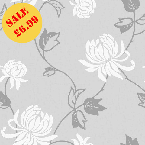 WonderWall Exclusive Wallpaper | Riva Grey/White | 902801