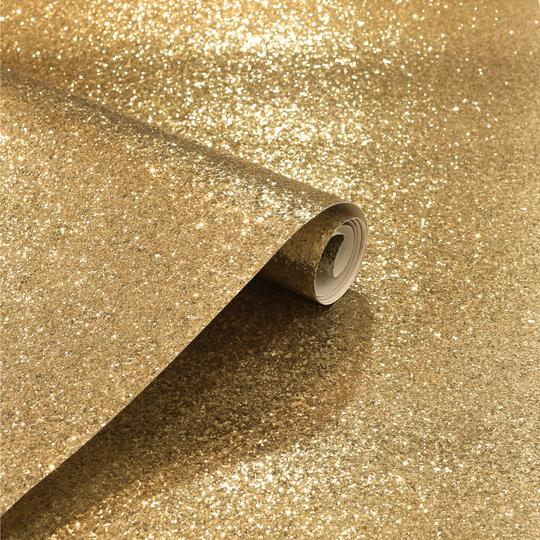 Sequin Sparkle Gold Wallpaper | Arthouse Glitters Collection