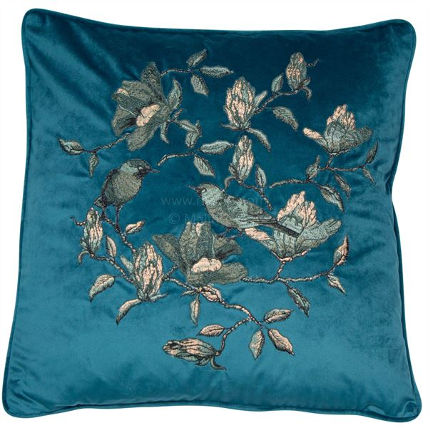 Sophie Teal Cushion| Feather Filled | Malini Designs
