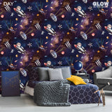 Outer Space | Glow in the Dark | Belgravia Kids Wallpaper | 8800