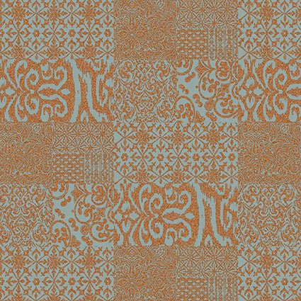 Design id Wallpaper | Verde 2 Damask Grid Copper | VD219150