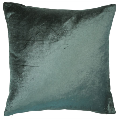 Malini Cushion Collection | Velveteen Pine Green Cushion | WonderWall