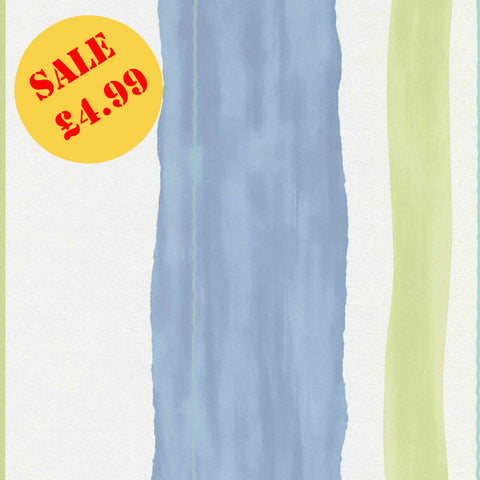SALE Erismann Wallpaper | Make Up Stripe Blue Green | 6454-08