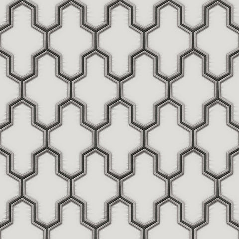 Geometric Silk White/Black| Design ID Wallpaper | WF121024