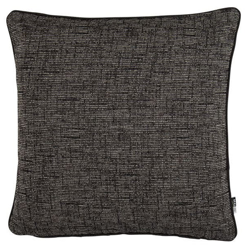 Zack Black Cushion | Black Linen | Malini Designs
