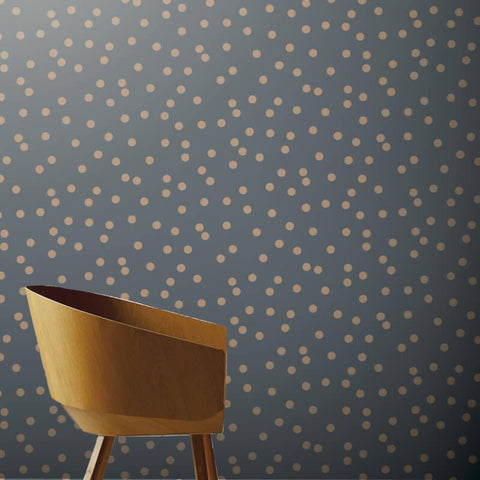 Arthouse Wallpaper | Dotty Rose Gold Charcoal | 685001