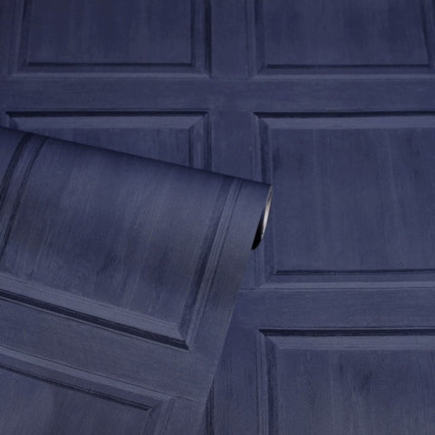 Washed Panel Navy | Arthouse Wallpaper | 909601
